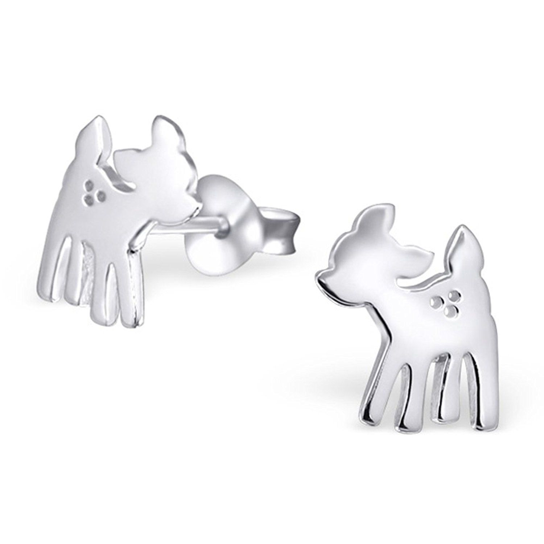 Pair of Small Sterling Silver Scottie Dog Stud Earrings 7Jlo5MEUYs