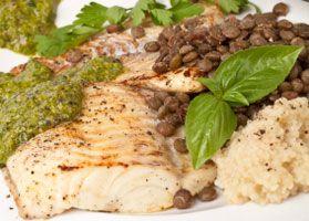 Spinach Pesto Halibut - Quick Recipe - American Diabetes Association