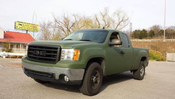 Rich Wrapped His Truck Matte Military Green Truck Wrap Gmc Trucks Sierra Military Green Trucks