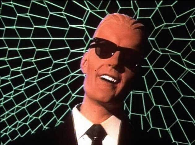 Max Headroom... sold coke I think?
