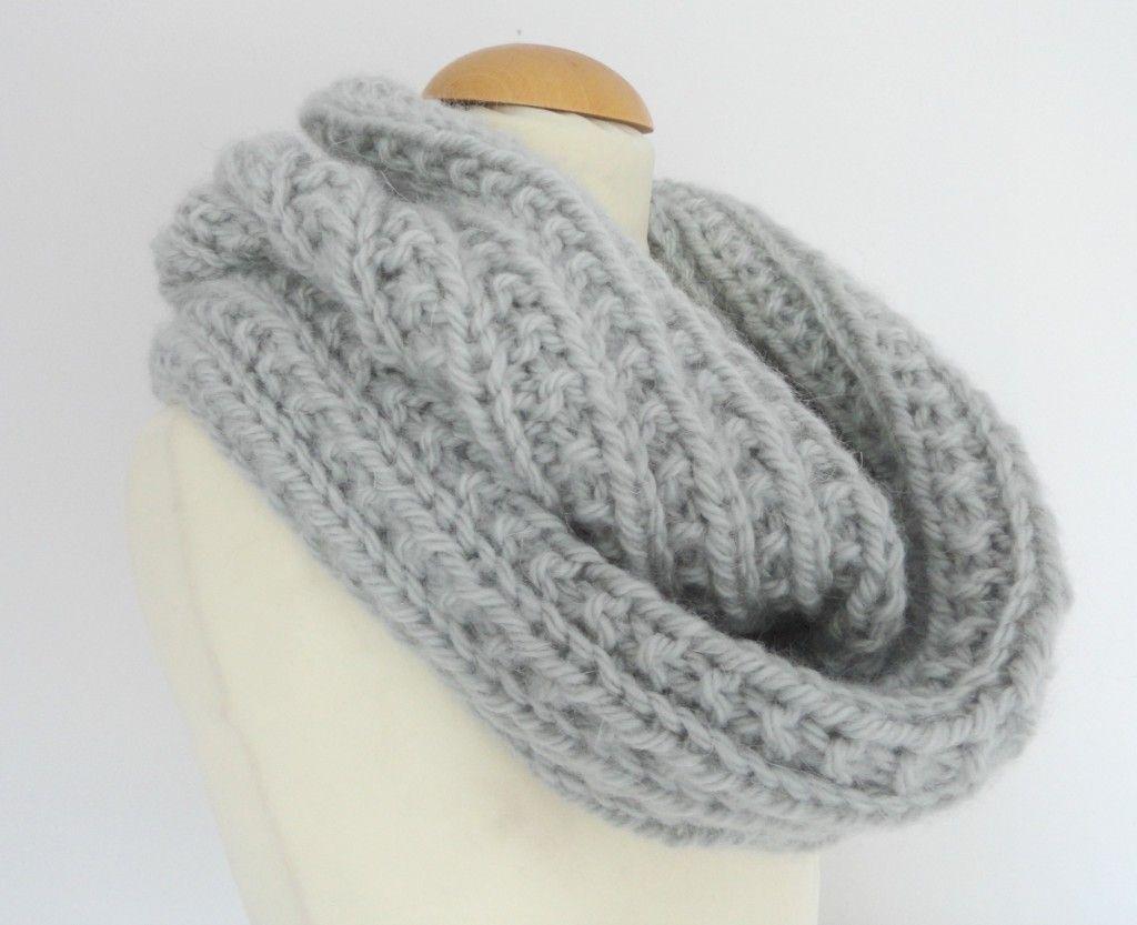 tricoter un snood femme torsades et point granite idees et conseils