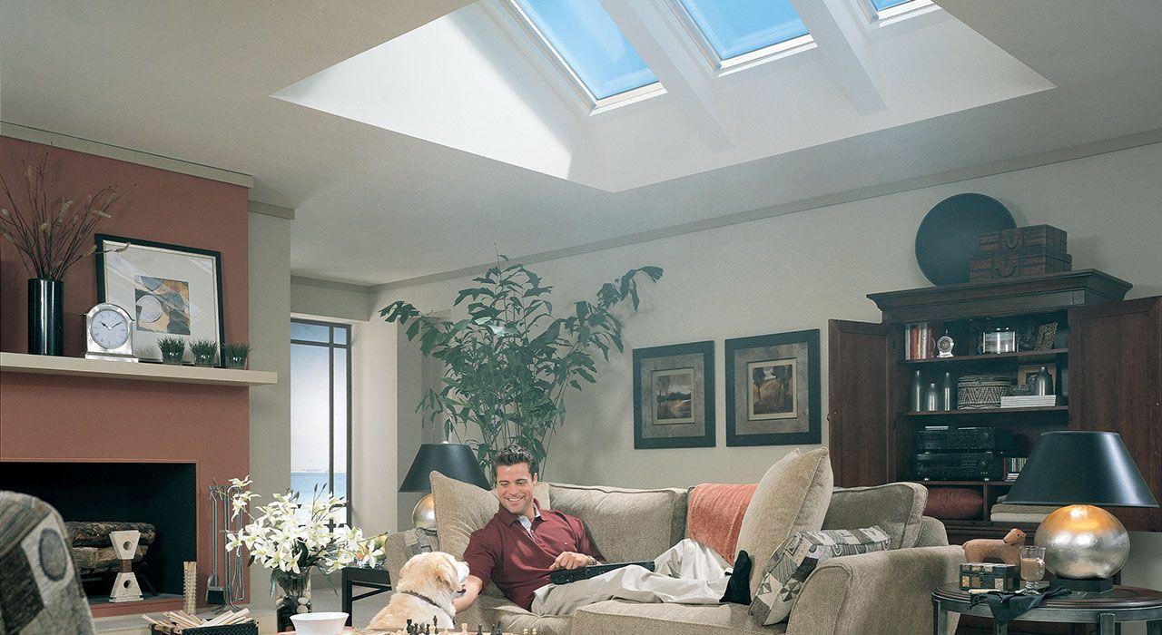 Velux window ideas  velux living room inspiration gallery  velux skylights  pinterest