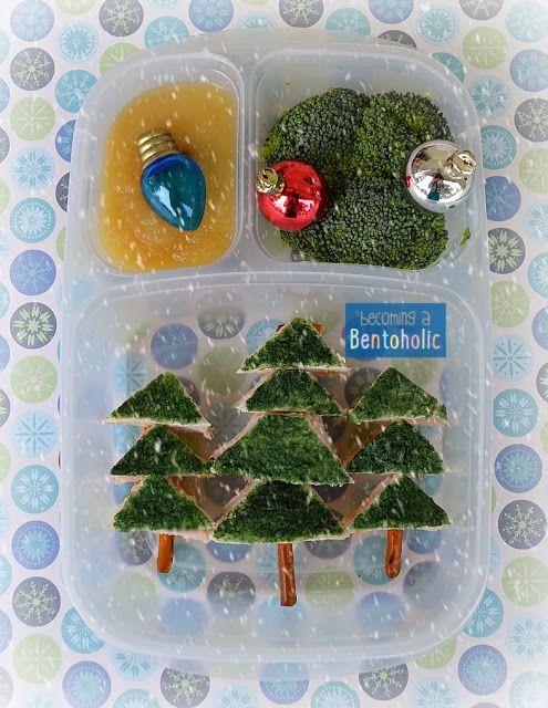 FunBites Triangles Giveaway ~ ends 12/17/13 Winter wonderland school lunch bento #EasyLunchboxes #FunBites