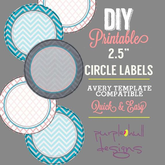 Circle Label Sticker Avery Template 2.5 Inch By
