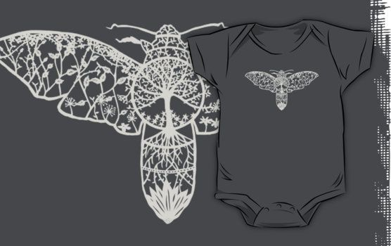 Hawk Moth Paper-Cut  by thethinks