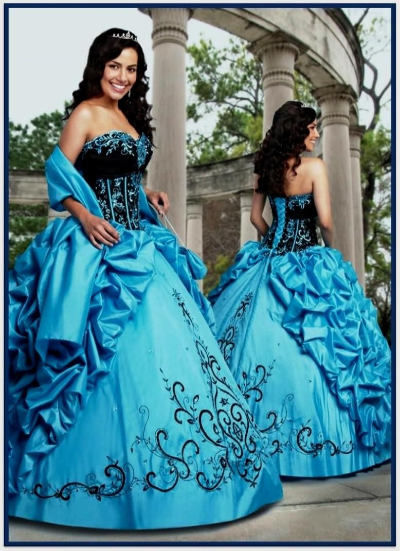 Outstanding Blue And Black Bridesmaid Dresses Embellishment ...
