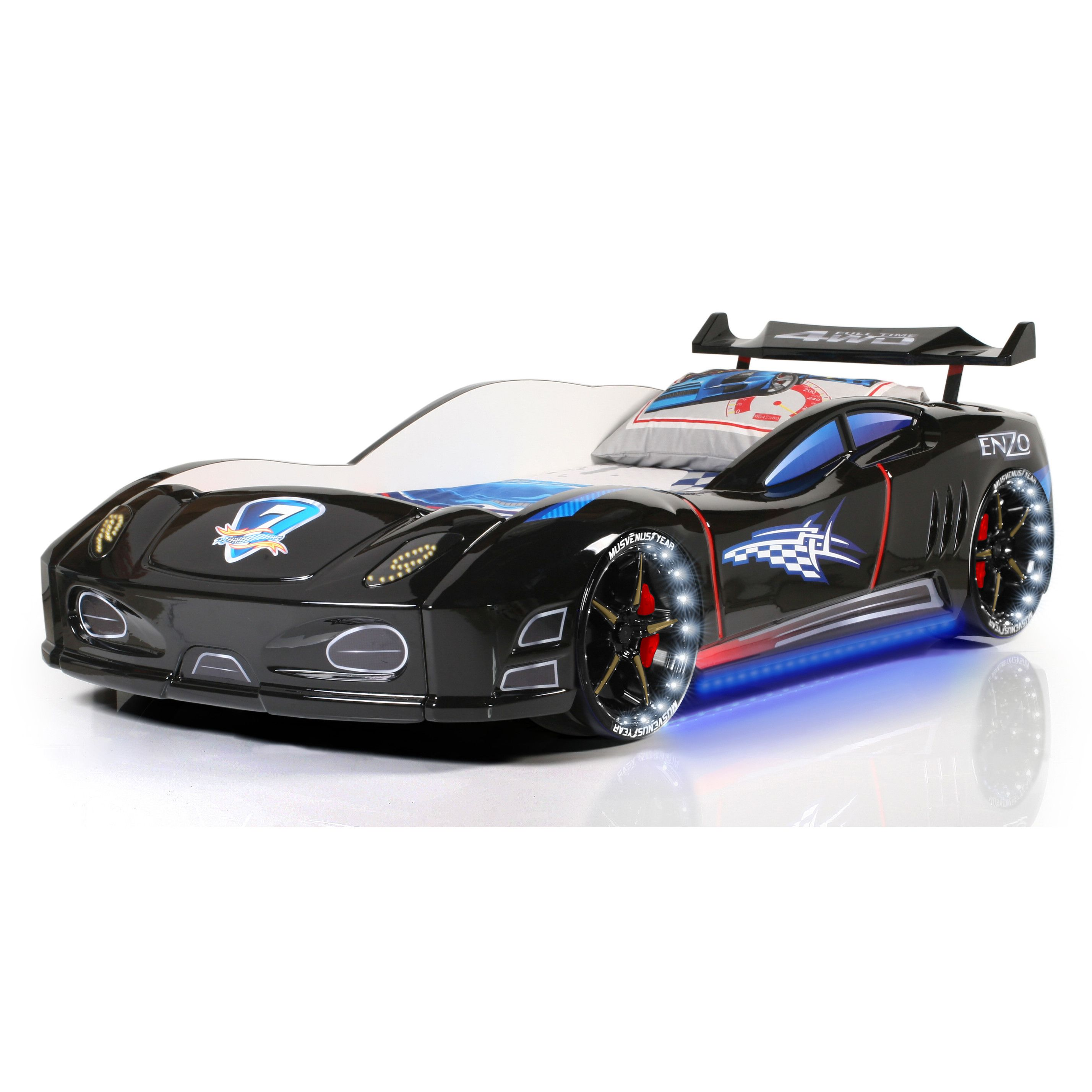 sia modern design enzo full race car bed with remote control