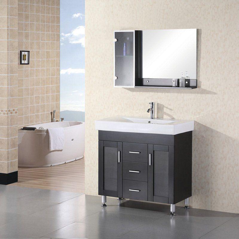 Design Element Dec021 Miami 36 In Single Bathroom Vanity Set