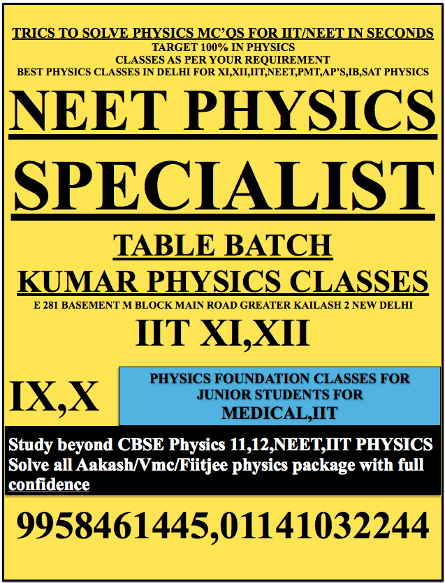 TRICS TO SOLVE PHYSICS MC'QS FOR IIT/NEET IN SECONDS TARGET