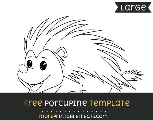 free porcupine template large shapes and templates printables