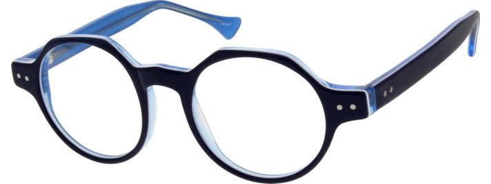 Unisex For Kids Blue 6356 Children's Acetate Frame with Spring Hinges. | Zenni Optical Glasses-1WyxsDJo