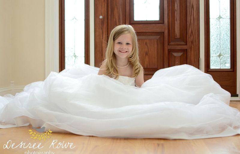girls in moms wedding dress | Picture ideas | Pinterest ...