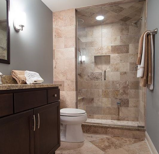 Small Guest Bathroom Ideas Classy Brown Wall Tiles For Small Guest Bathroom Ideas  Decolovernet Design Decoration