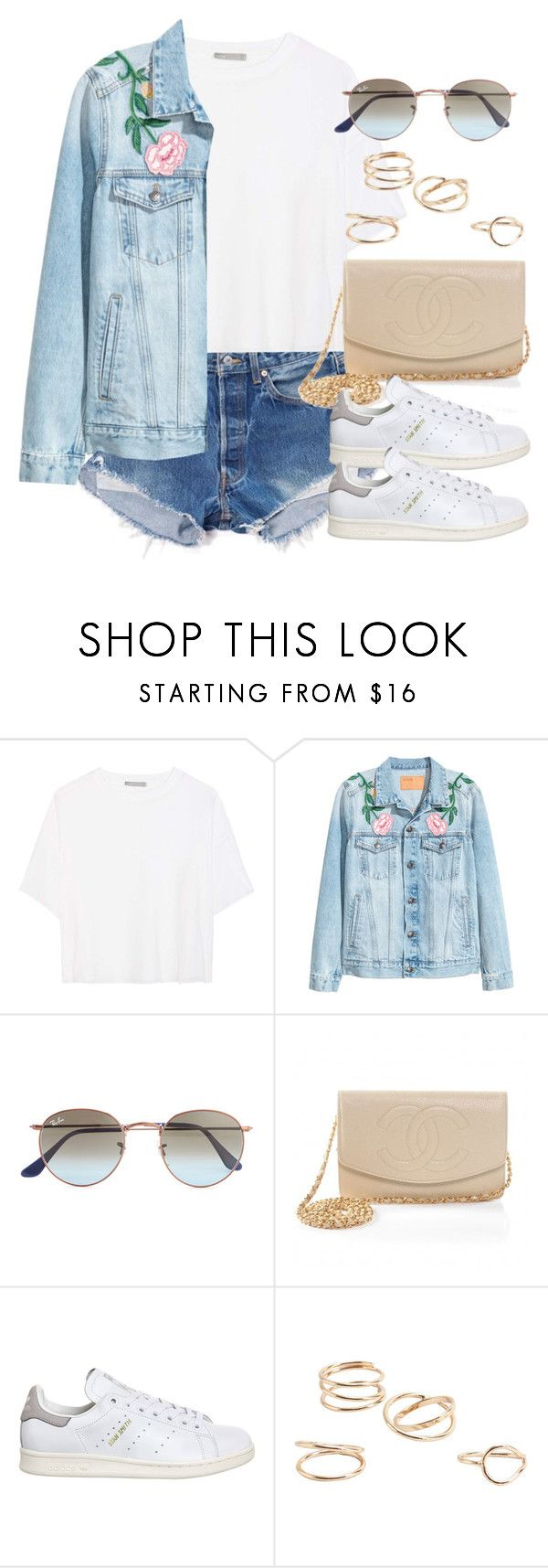 """Sin título #12296"" by vany-alvarado ❤ liked on Polyvore featuring Levi's, Vince, Ray-Ban, Chanel, adidas and MANGO"