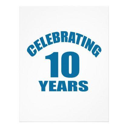 Celebrating 10 Years Birthday Designs Letterhead Birthday design