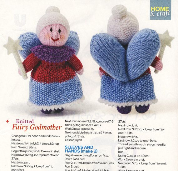 Fairy Godmother Doll Knitting Pattern Yours Magazine Soft Toy