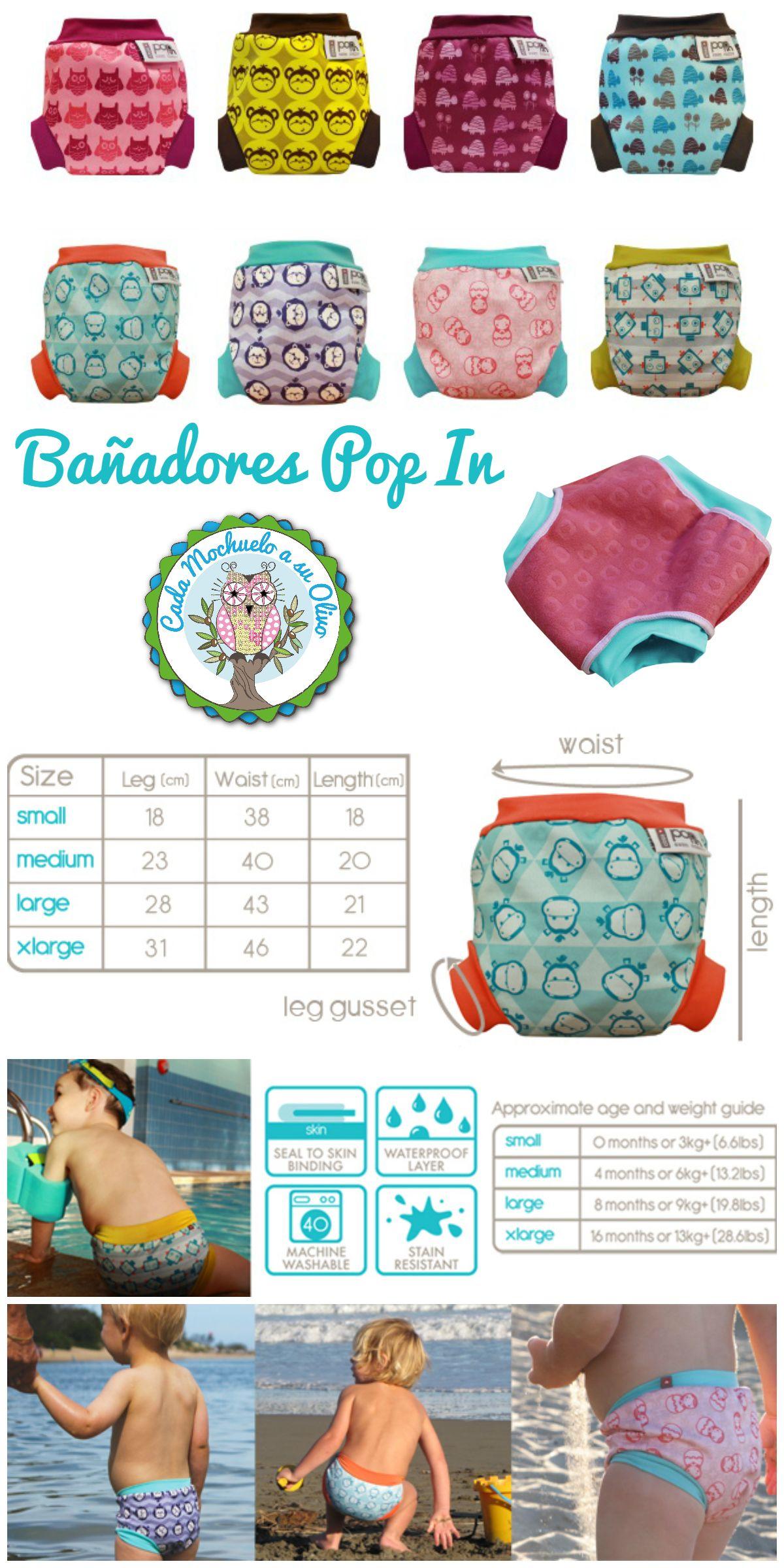 2f0a80ce8609 Pin de Oliva Mochuela en Bañador / pañal Pop In | Bañadores, Bebe y ...