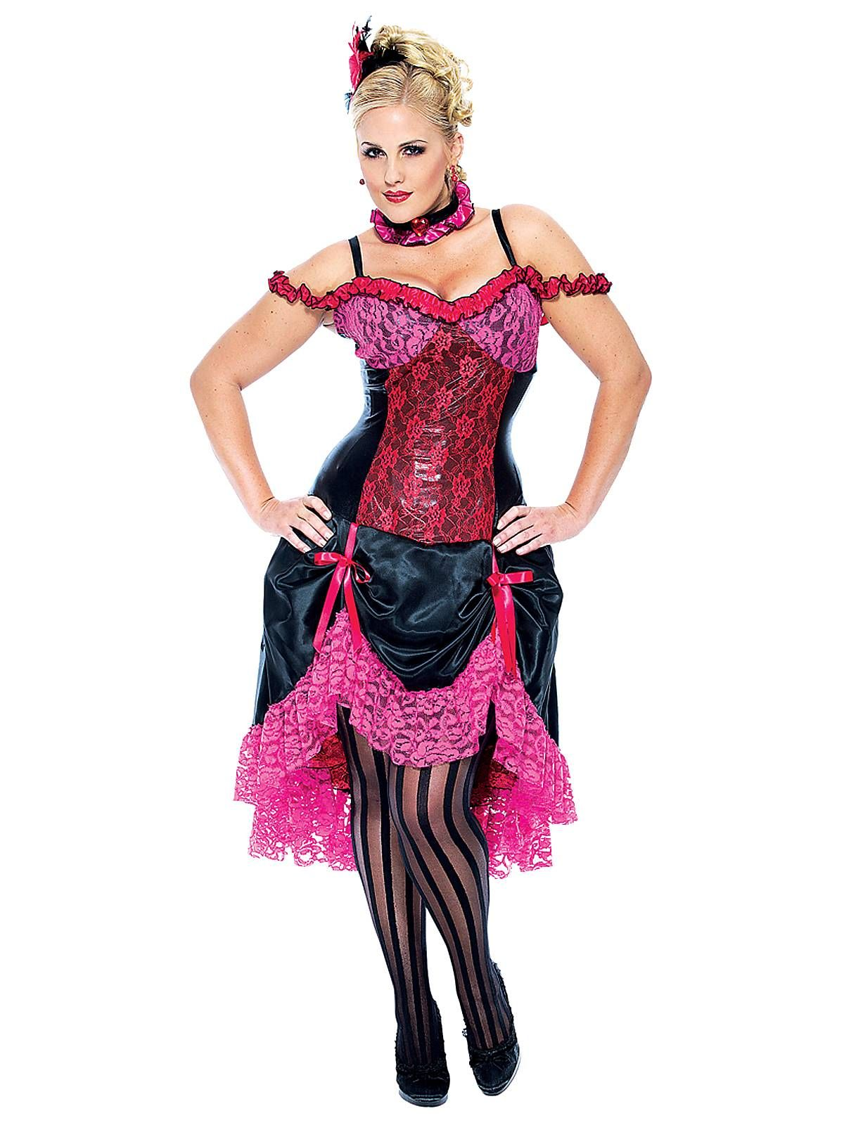 French cancan plus adult costume