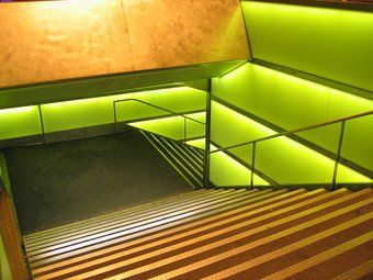 Treppenhaus grün