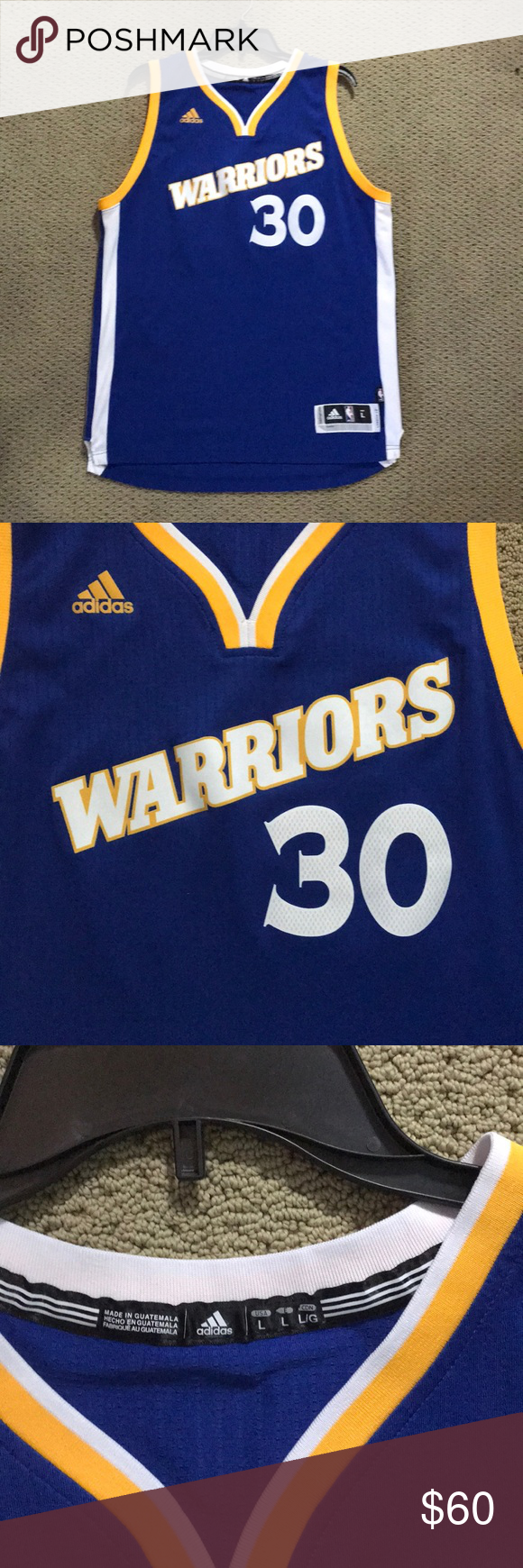 new arrival ce635 904b5 Adidas Golden State Warriors Curry Jersey #30 Stephen Curry ...