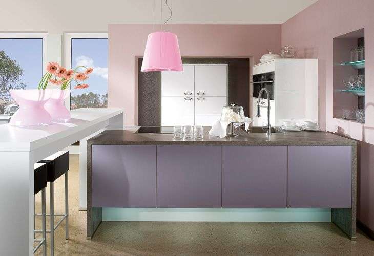 k che in lila k cheninsel lila k chen pinterest purple kitchen. Black Bedroom Furniture Sets. Home Design Ideas