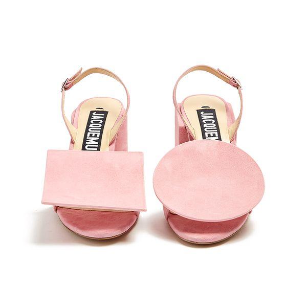 cbec5014697 Large jacquemus sculptured heel suede sandals | shoooooooes. | Suede ...