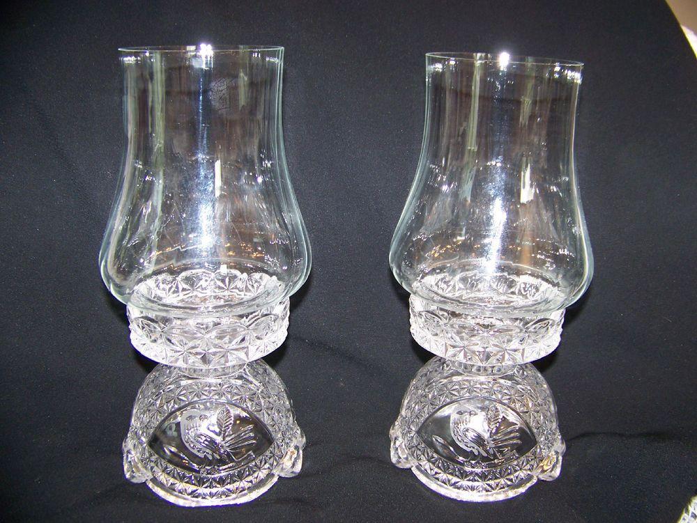 Pair Of Elegant Hofbauer Byrdes German Lead Crystal
