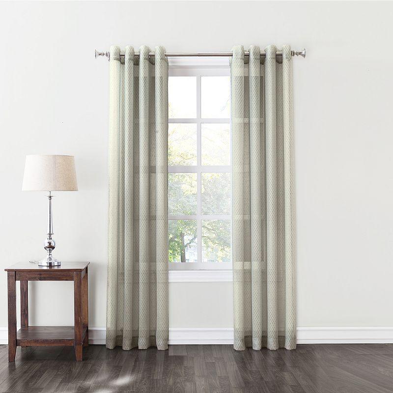 SONOMA Goods for Life™ Daria Semi-Sheer Curtain, Blue