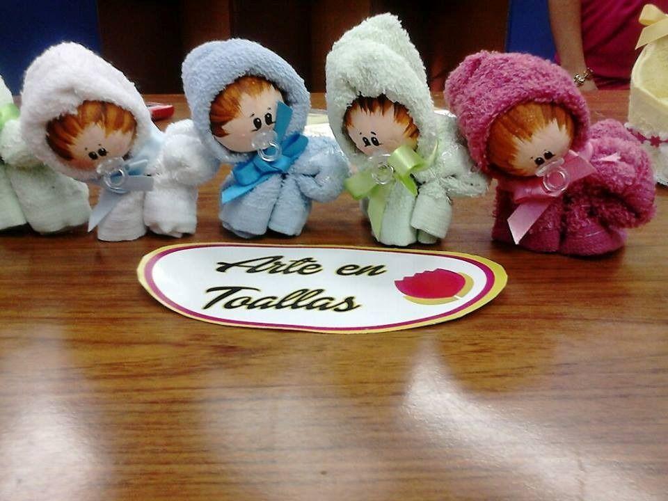 recuerditos para baby shower nacimiento hecho en toallas bs f 140