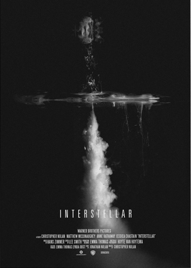 Interstellar (2014) ~ Minimal Movie Poster by Daniel Barkle #amusementphile