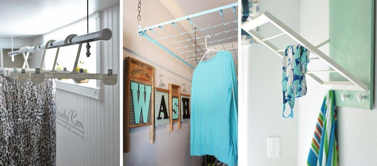 12 Astuces Indispensables Pour Etendre Votre Linge Dans Un Petit Espace Amenagement Chambre D Amis Etendoir A Linge Mural Maison Confortable