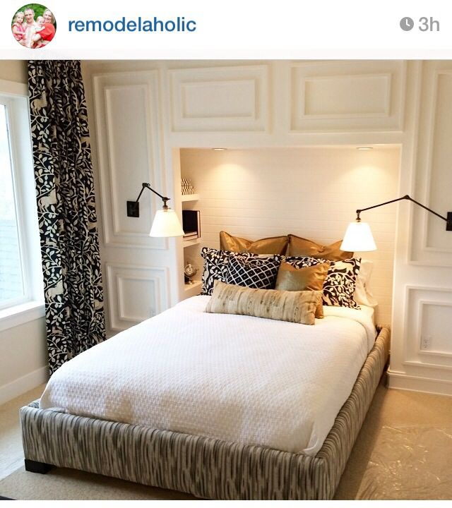 Built Ins Around Bed Remodel Bedroom Small Bedroom Decor Small