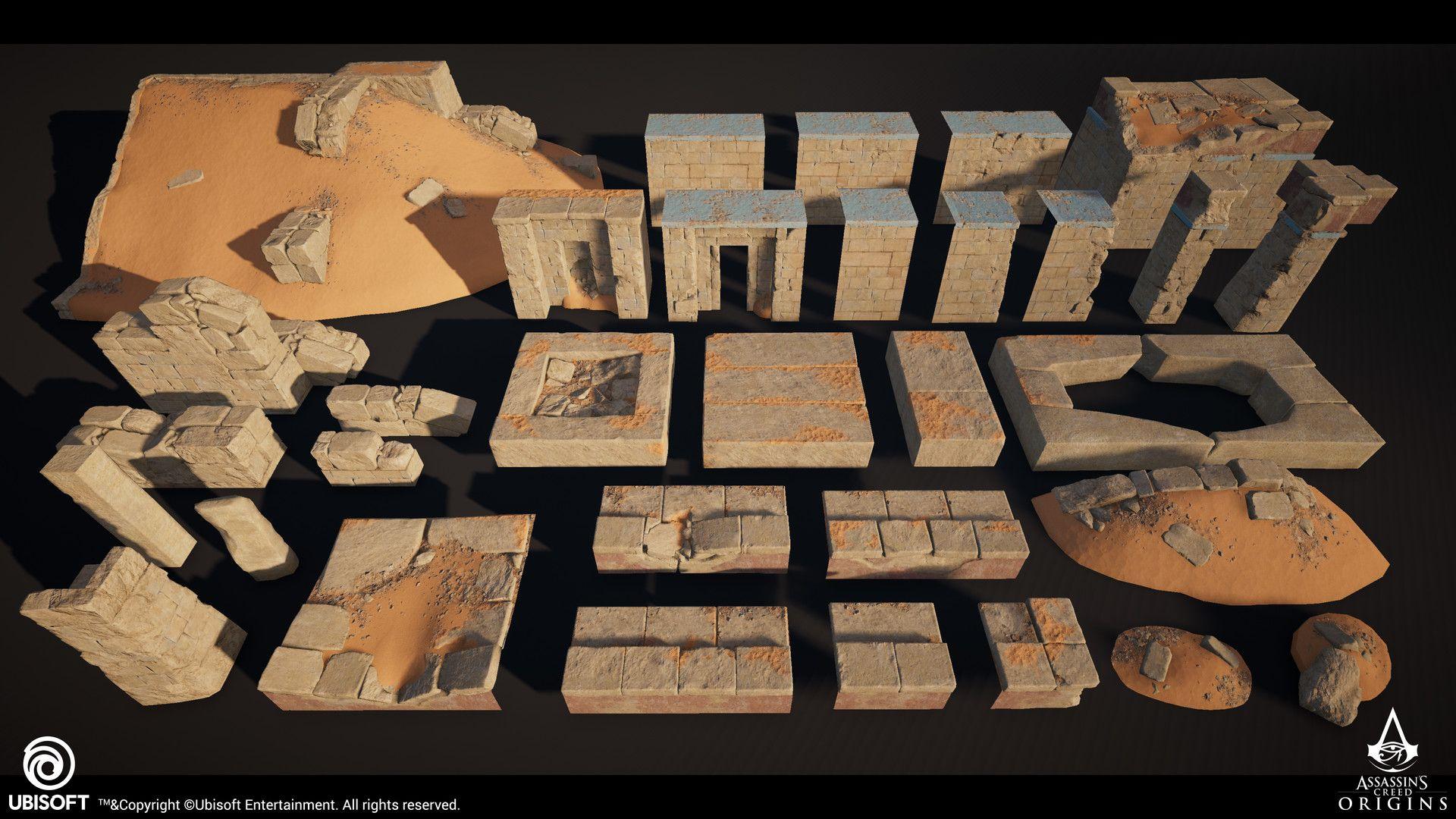 Artstation Assassin S Creed Origins Mastaba Tombs Emil Gruev