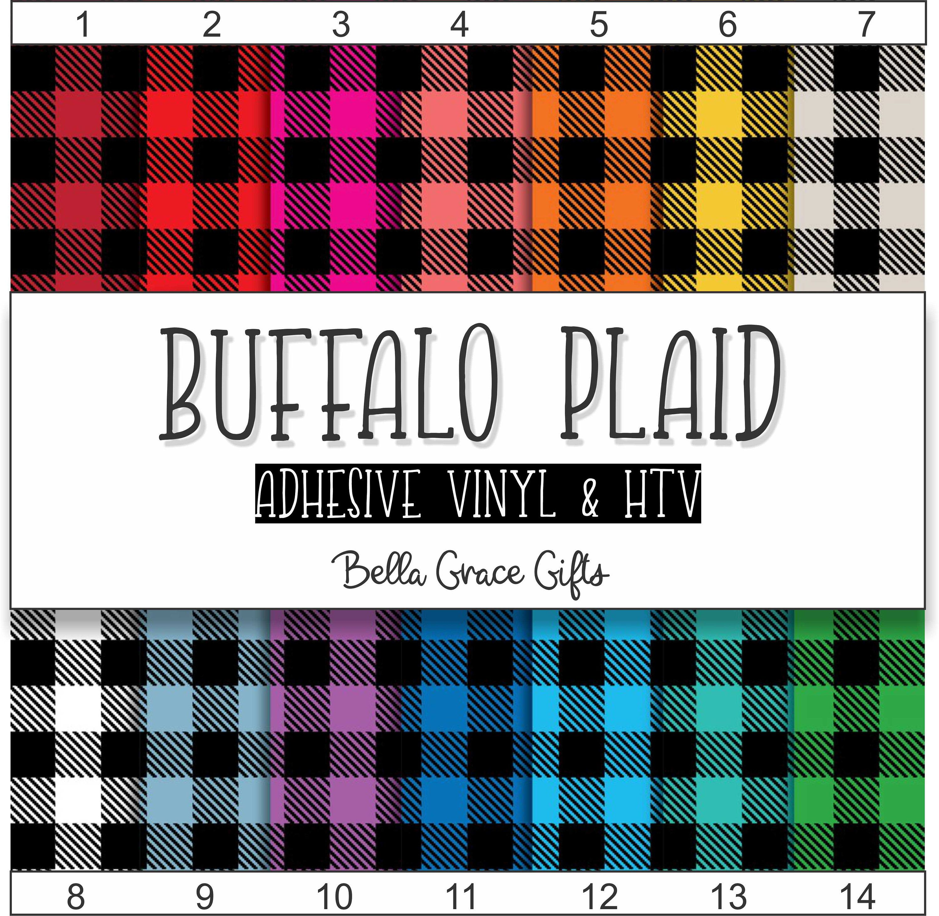 This Is An Adorable Buffalo Plaid Vinyl Set They Would Be Perfect For Christmas Decorations And Monograms Choose Adhesive Vinyl Patterned Vinyl Buffalo Plaid