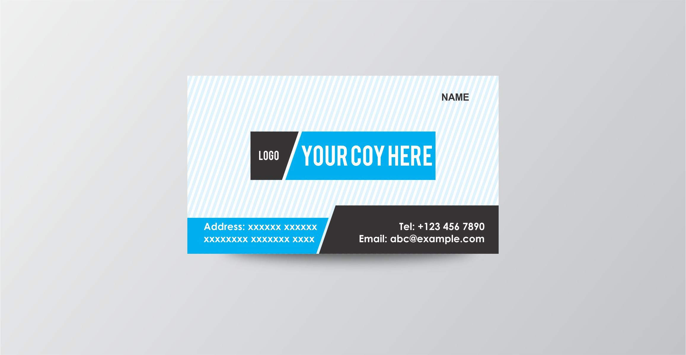 Editable Multipurpose Business Card Template Can Be Edited And Tweaked To Suit Your Taste Format Coreldraw Cdr Version Business Cards Cards Name Logo