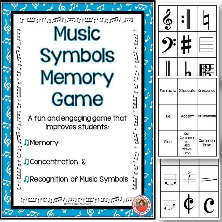 Music Game Music Memory Music Symbols Pinterest Music Symbols