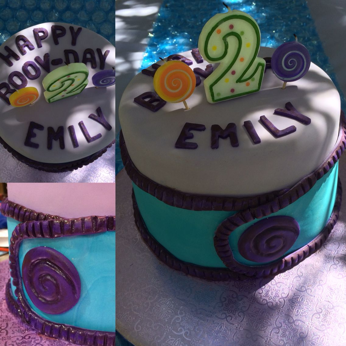 Boov Home Themed Birthday Cake