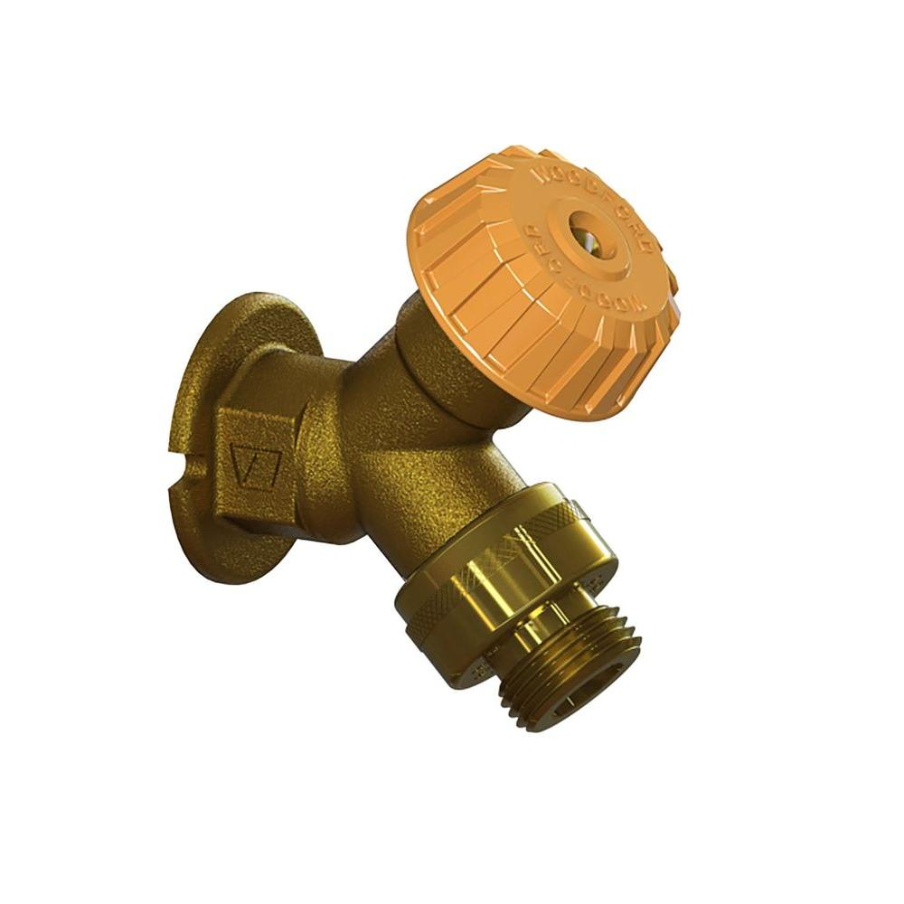 Woodford 3 4 In X Fpt Mild Climate Brass Wall Hydrant With Single Check Vacuum Breaker 24p3 4 Br Wall Faucet Copper Tubing Home Depot