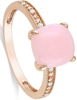‧:••:ᗋᑎᏋ•ԼᏋᏋԼᗋ ‧:••:Rose gold, pink opal and diamond ring... Love!!!!