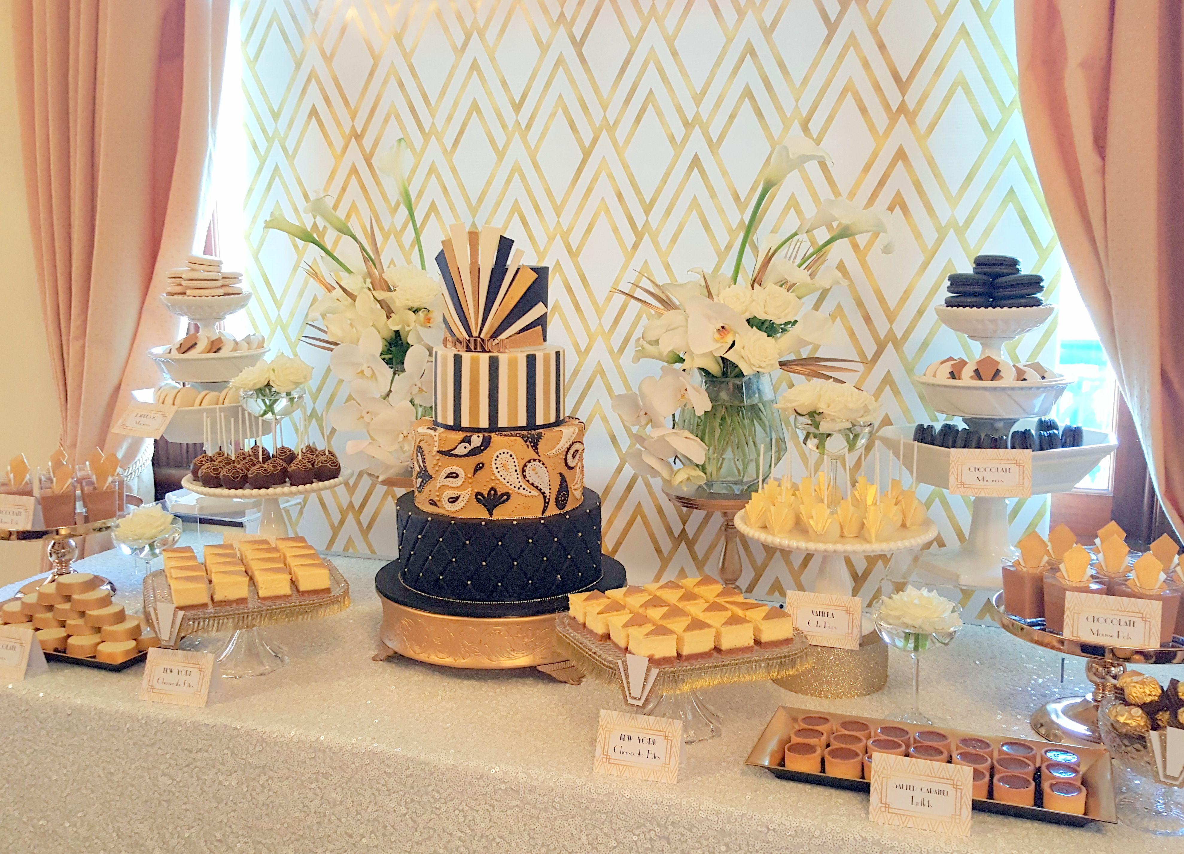 Great Gatsby Dessert Table