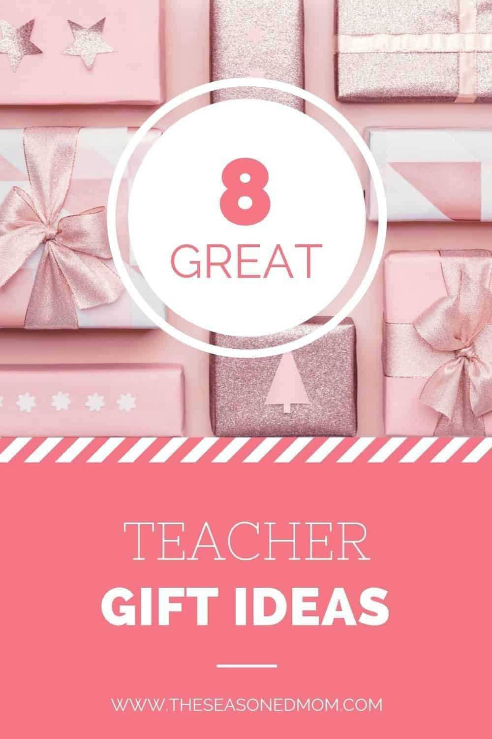 A complete list of great easy Teacher Gift Ideas that are perfect for Christmas or the end of the school year. No special crafting required for these gifts that are not homemade! Gift Guide | Christmas Ideas | Christmas Shopping #homemade gift for teachers Teacher Gift Ideas