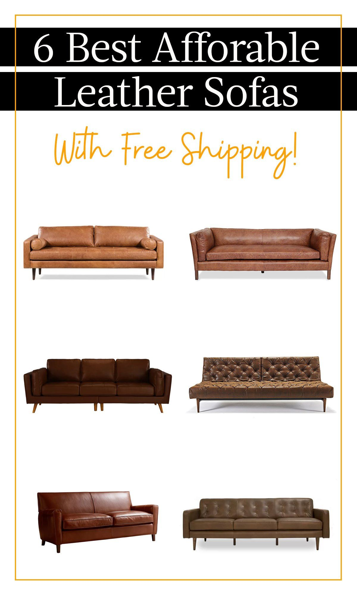 7 Affordable Leather Sofas Most With Free Shipping Distressed Leather Sofa Leather Sofa Leather Couches Living Room