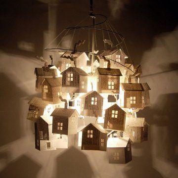 Des lanternes en forme de maison