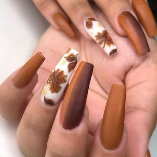 34 Most Popular Ways To Long Acrylic Nails Coffin Fall Colour 16 Fall Acrylic Nails Long Acrylic Nails Cute Acrylic Nails