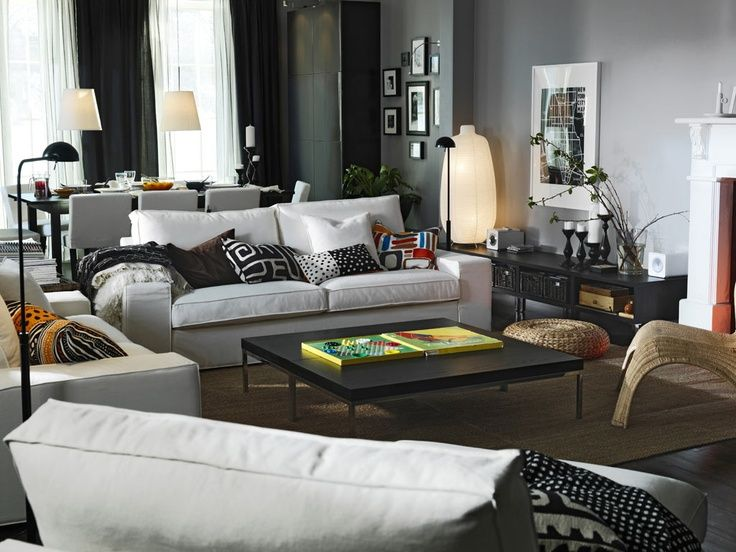 Awesome Living Room Design IKEA 2011 Wit White Couch Interior Design Ideas  And Inspiration, With Quality HD Images Of Awesome Living Room Design IKEA  2011 ...
