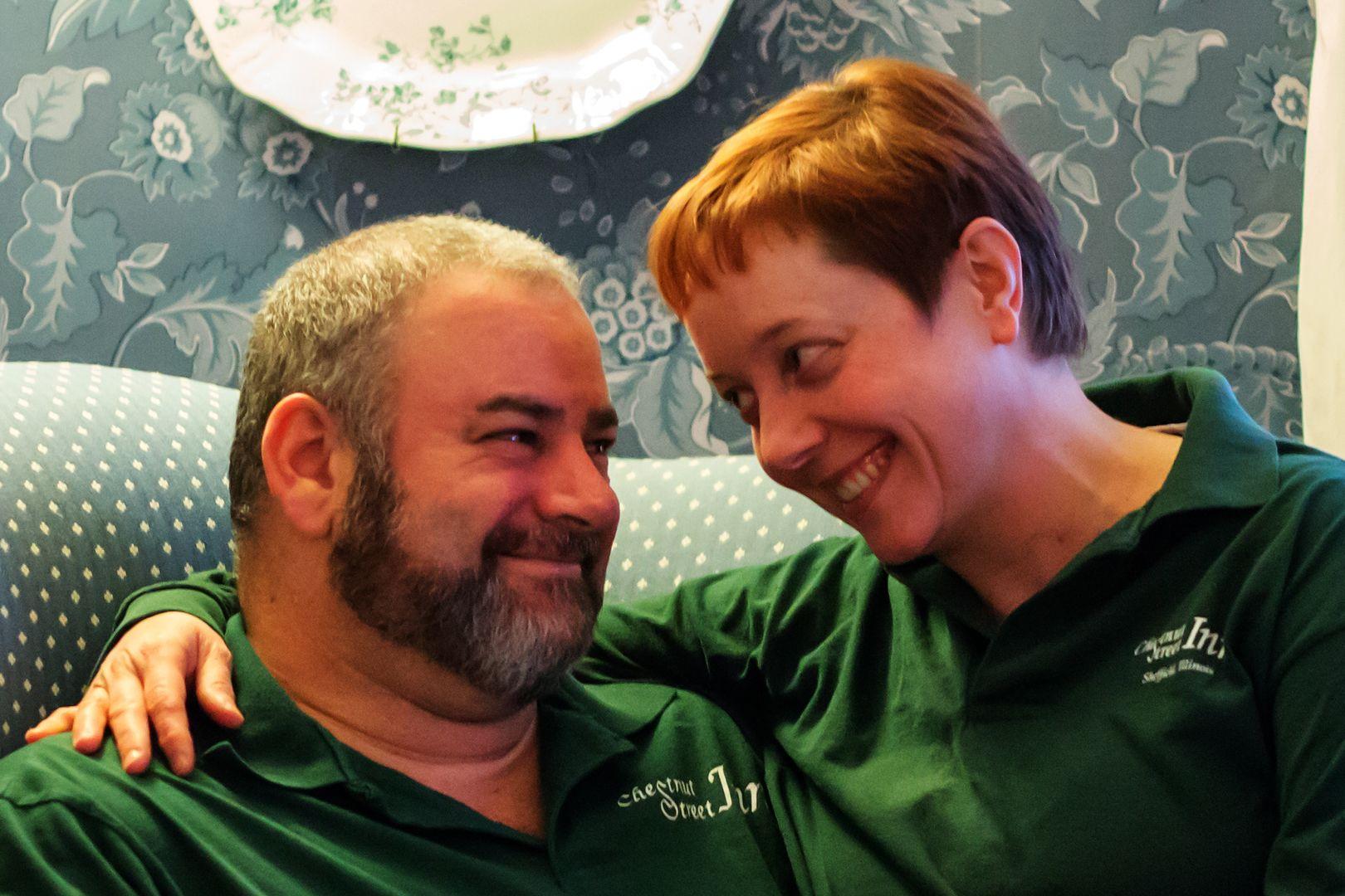 Jeff and Monika Sudakov, your happy innkeepers Cooking
