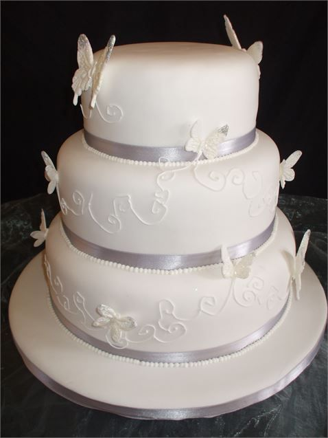 The Butterfly Wedding Cake from Simply Elegant Cakes