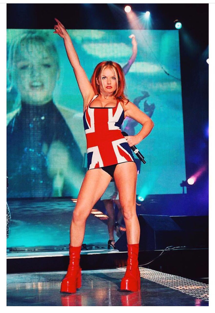 1990s Union Jack Ladies Fancy Dress 90s British Ginger ...  Ginger Spice British Dress
