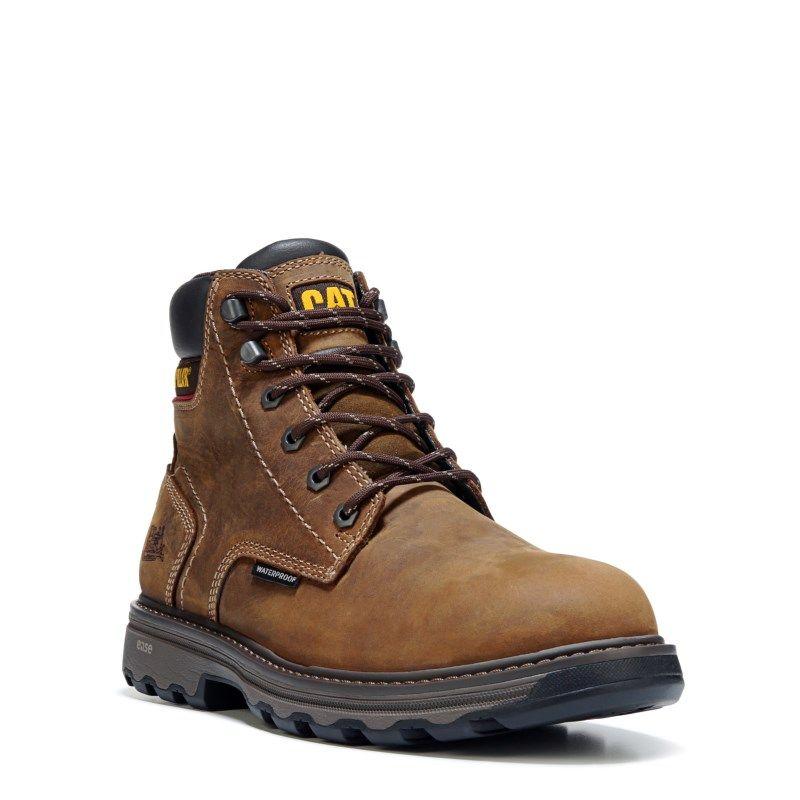 Caterpillar Men's Precision Medium/Wide Waterproof Composite Toe Boots (Dark  Brown Leather) -