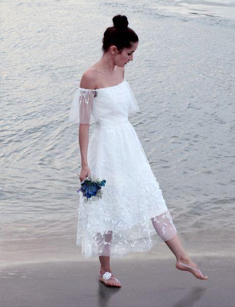 Brautkleider - Kurzes Hochzeitskleid Linnea - ein Designerstück von ...